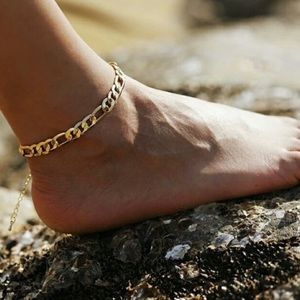 5⭐️ Rated Chainlink anklet, 18k Gold plated